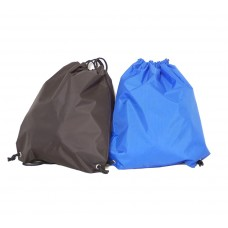 "17"" Drawstring closure bag."