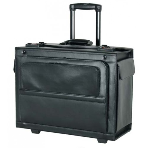 18 Quot Leather Hard Side Rolling Computer Catalog Case
