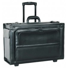 """21"""" Leather wheeled computer case"""