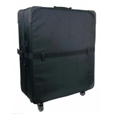 "24STR  28"" Wheeled shoe sample case and adjustable divider."