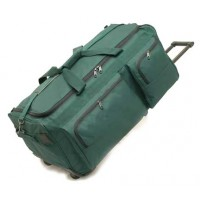 "30"" Corner wheeled polyester duffel w/cart system"