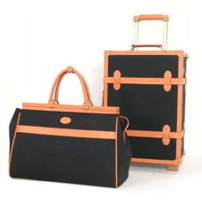 "20"" Leather Trunk Case & Tote"