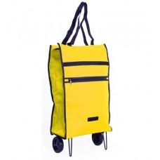 "22"" 600d polyester compact tote on wheels"