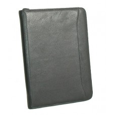 Leatherette Zipper Pad Folio
