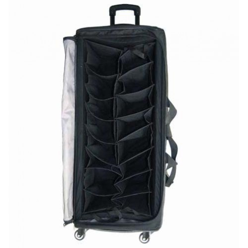 6 Wheels Stand Up Rolling Sample Bag W 2 Removable Soft Rack